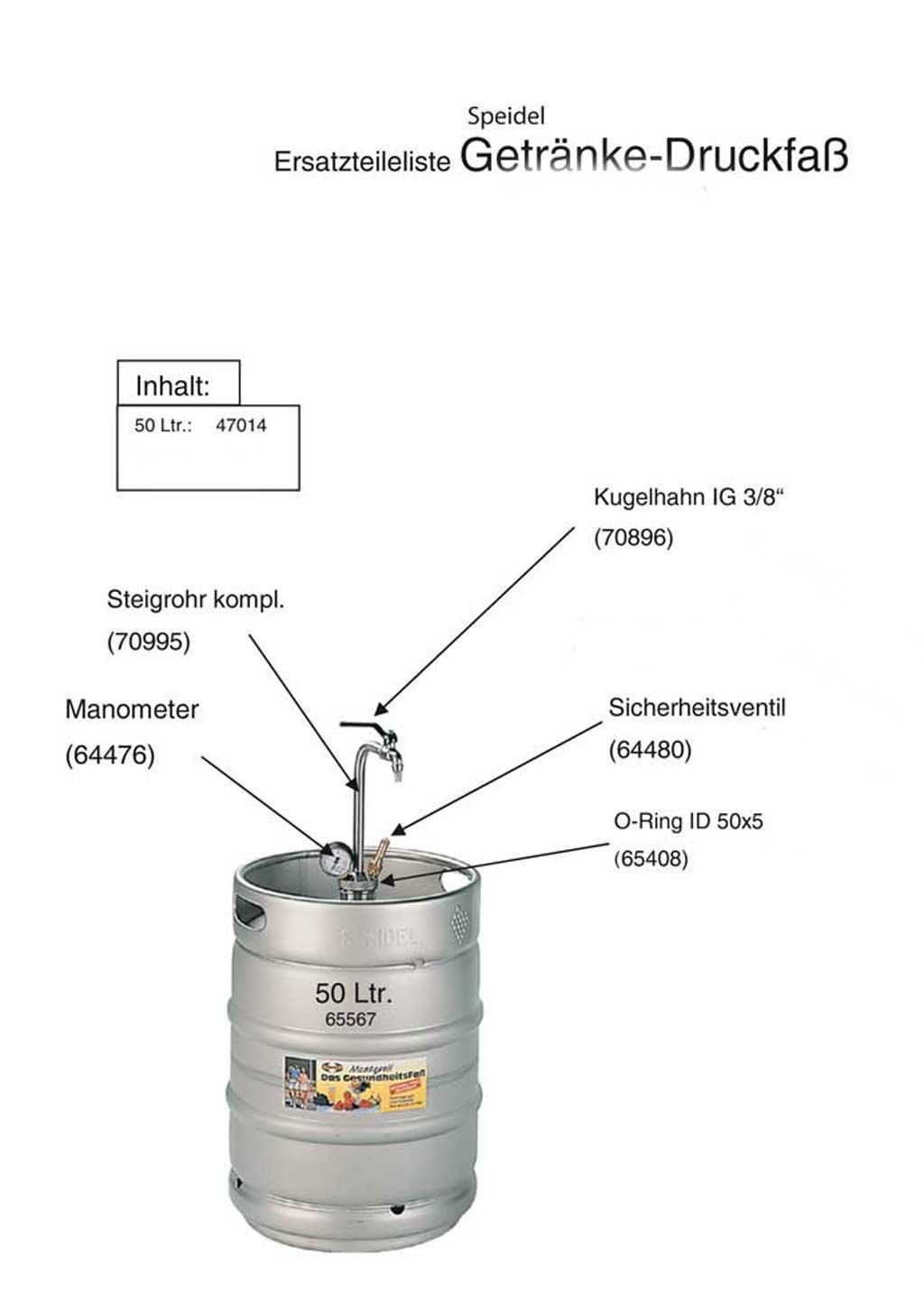 Lagerverkauf: Ersatzteile für Speidel Edelstahl-Getränke-Druckfass ...