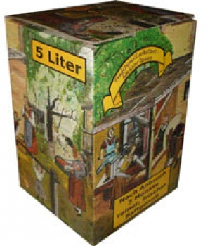 Bag in Box Kartonmotiv Alte Presse 10 Liter