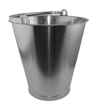 edelstahl eimer lebensmittelecht 15 liter mit skala hitzebest ndig kellereitechnik lager. Black Bedroom Furniture Sets. Home Design Ideas