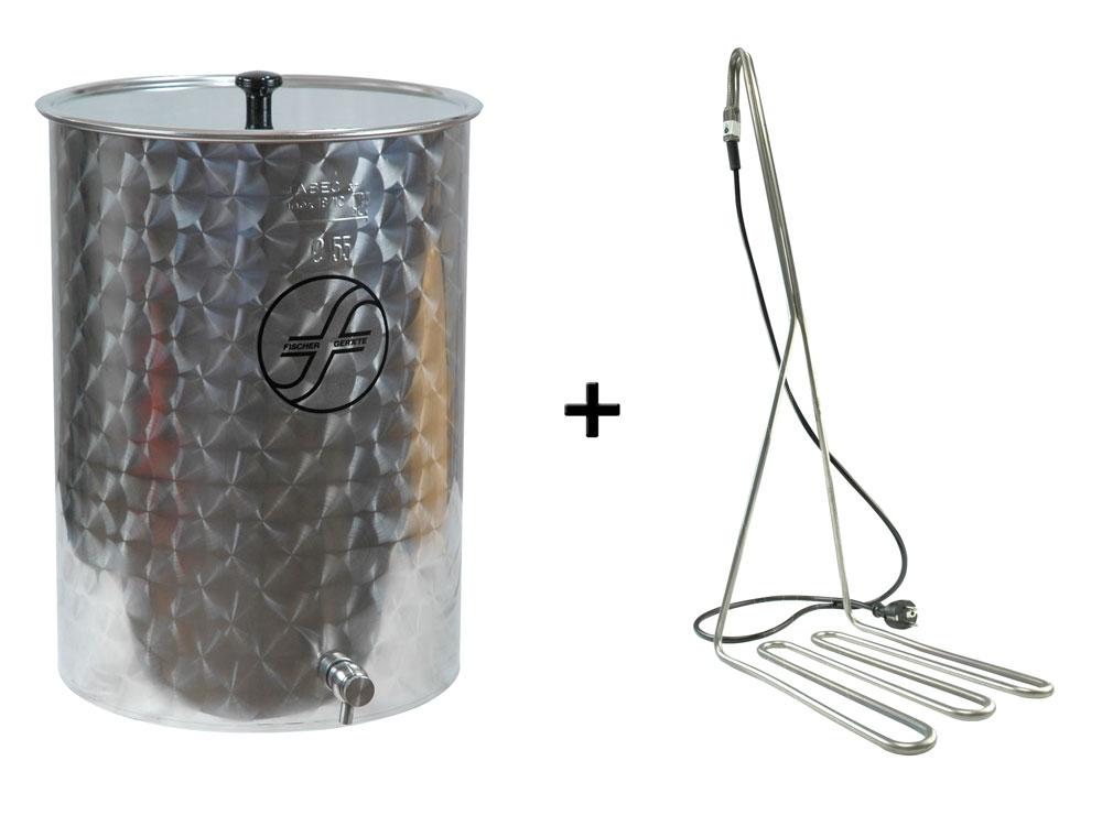 lagerverkauf saftfass edelstahlfass 55 liter mit speidel tauchsieder jetzt g nstig im set. Black Bedroom Furniture Sets. Home Design Ideas