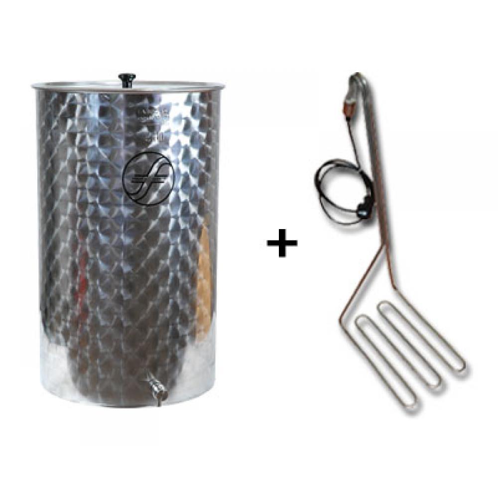 edelstahlfass 200 liter saftfass mit speidel tauchsieder kellereitechnik lager verkauf. Black Bedroom Furniture Sets. Home Design Ideas