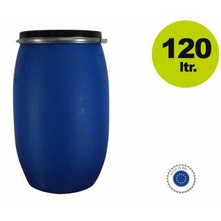 lagerverkauf maische fass 120 liter lebensmittelecht blau g nstig kaufen lagerverkauf. Black Bedroom Furniture Sets. Home Design Ideas