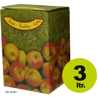 Bag in Box: Karton, Motiv Apfel 3 Liter