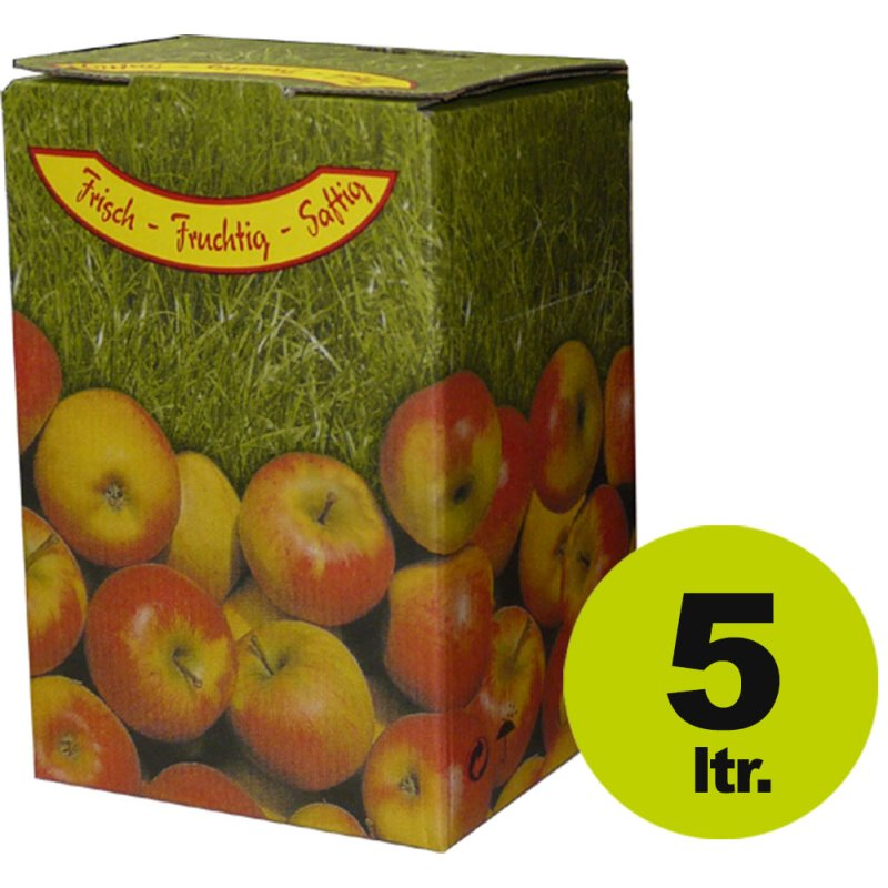 "Bag in Box:  Karton, Motiv ""Apfel"" 5 Liter"
