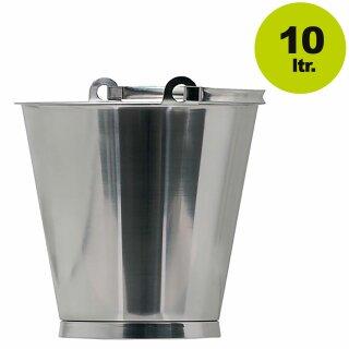 Extrem Lagerverkauf: Edelstahleimer, Literskala, 10 Liter Edelstahleimer NR82